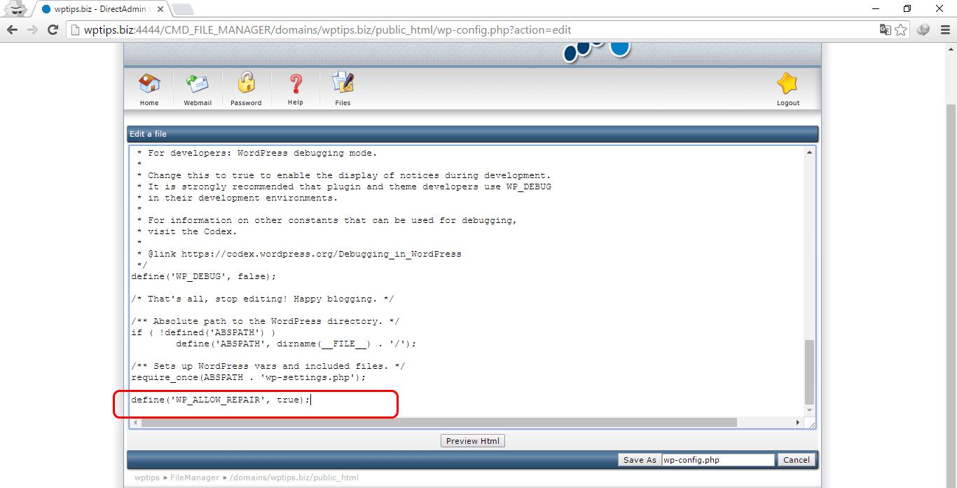 lỗi kết nối cơ sở dữ liệu wordpress