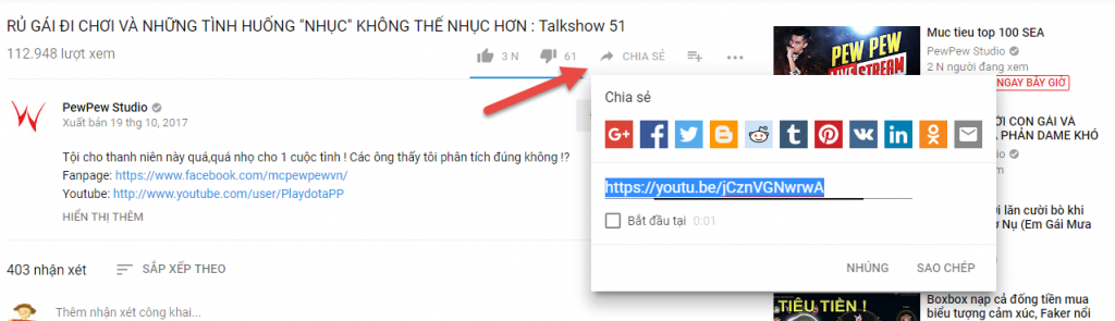 cách chèn video youtube trong wordpress