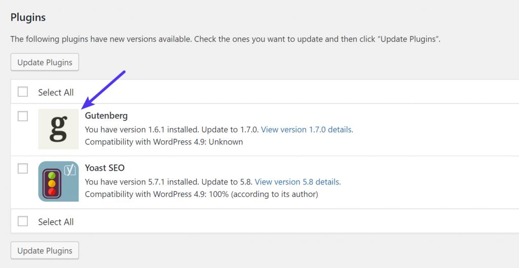 plugin icon trong wordpress 4.9