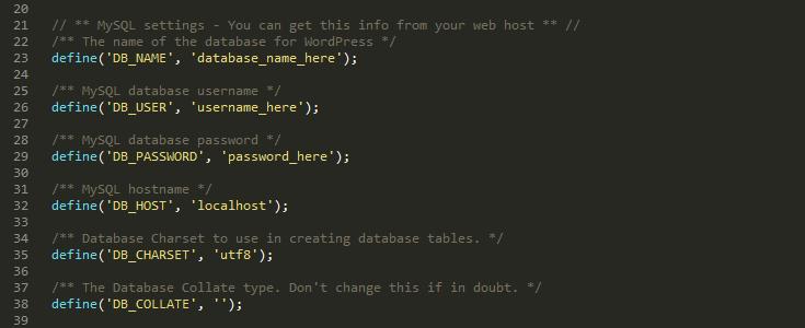 thiết lập cơ sở dữ liệu