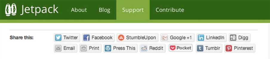 plugin mạng xã hội cho wordpress