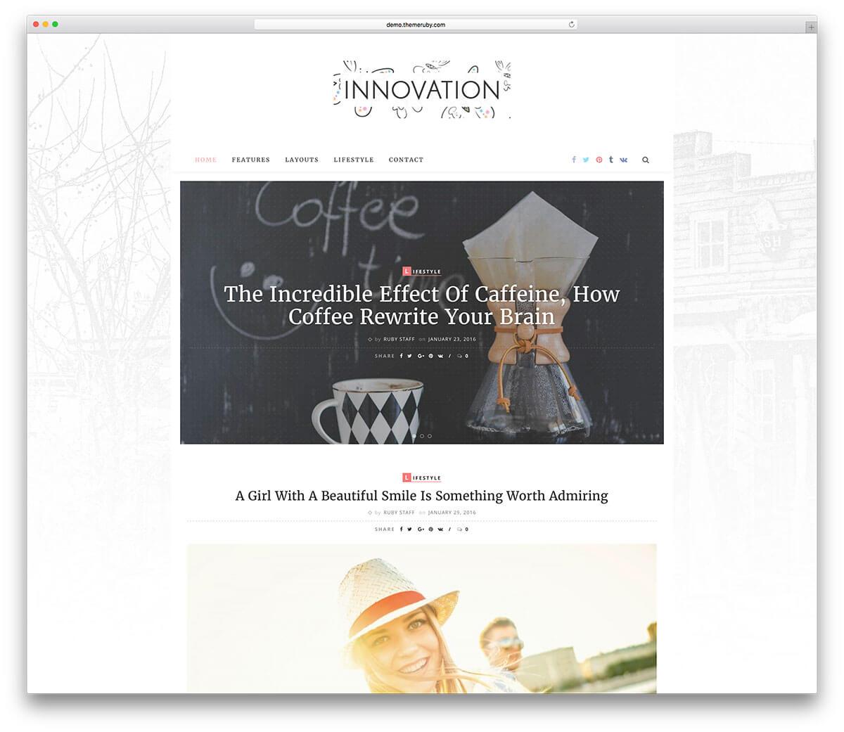 theme blog wordpress