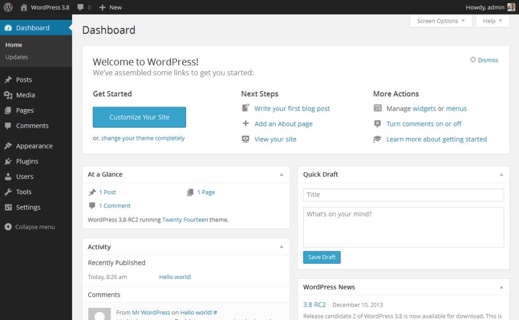 tạo blog bằng WordPress
