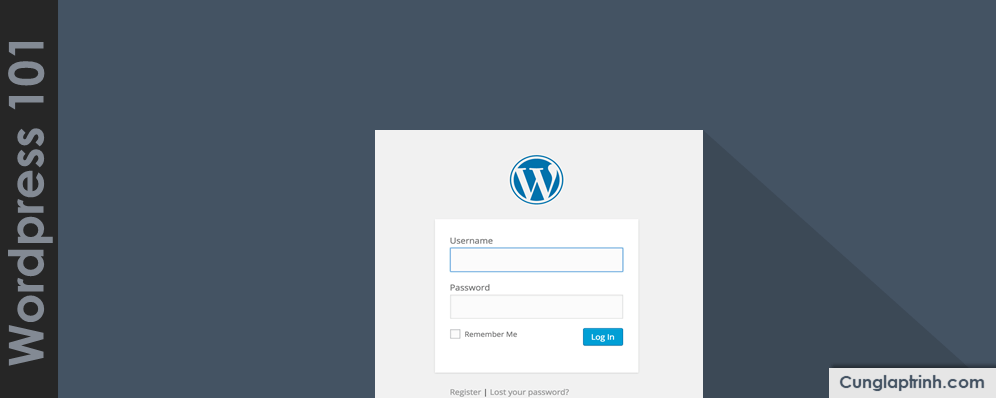 Học WordPress cơ bản: Đăng nhập vào WordPress