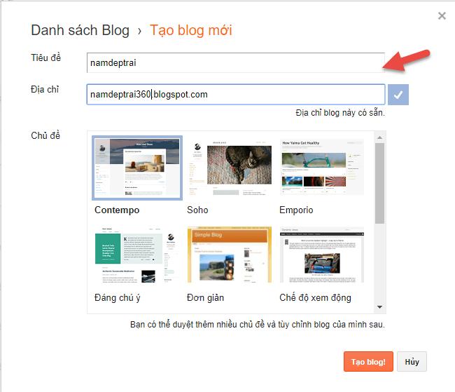 cách tạo blogspot google